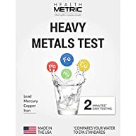Lead Iron Copper and Mercury - Home Water Test Kit for Well Tap and Drinking Water | Fast & Accurate Quality Testing to EPA standards | Easy to Use and Sensitive Tester Strips Made in USA Heavy Metals Test