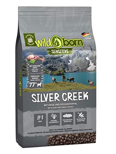 Wildborn Silver Creek getreidefreies Hundefutter mit Ziegenfleisch & Süßkartoffel | sensitives Futter für Hunde ohne Zusatzstoffe Made in Germany (15 kg)