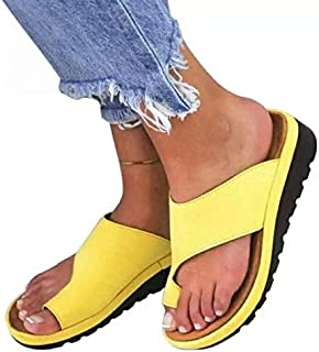 Women Shoes Women Flats Slippers Female Flat Sandals Slippers Women Classic Sandals Ladies Slippers Platform Shoes Simple casual sandals and slippers (Color : Yellow, Shoe Size : 8.5)