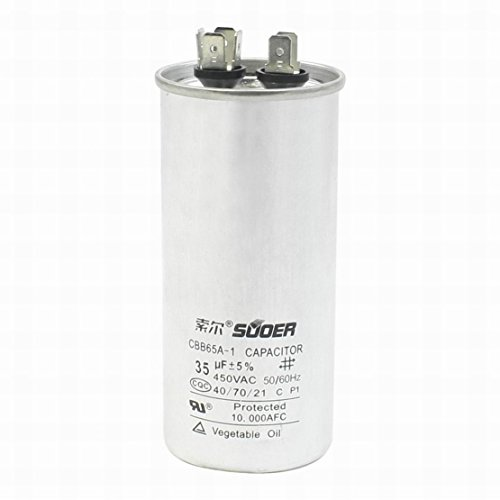 Ugtell cbb65a-1 Motor Capacitor Capacitance 35Uf Voltage AC 450V Frequency 50/60Hz 40/70/21 Silver tone capacitor