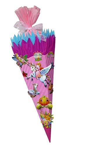 Schultüte Bastelset Pegasus und Einhorn - Zuckertüte - aus 3D Wellpappe, 68cm hoch