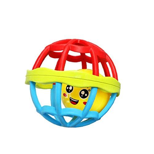 Hiinice Bebé Confunde La Bola De Goma Suave Juguetes Bebés Hnad Shaker Juguetes para Un Infante Recién Nacido Niño De Tamaño Pequeño Herramientas Convenientes
