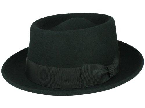 Rassow Cappello Pork Pie in feltro di lana, nero Nero XL