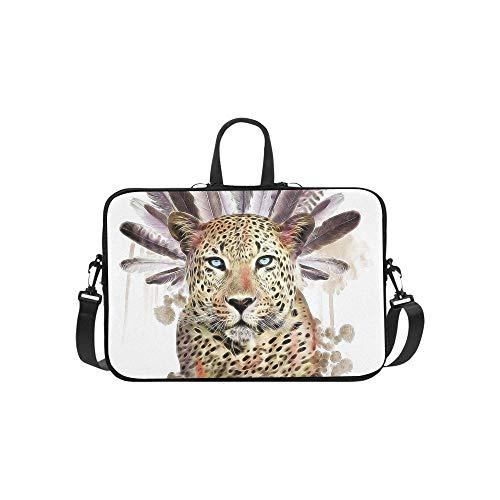 Leopard Tshirt Graphic Tattoo Design Animal Print Aktentasche Laptoptasche Messenger Schulter Arbeitstasche Crossbody Handtasche für Geschäftsreisen