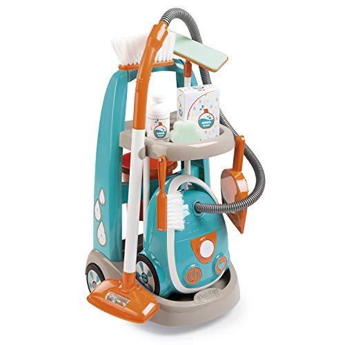 Smoby - Chariot de Menage + Aspirateur - Electronique avec B