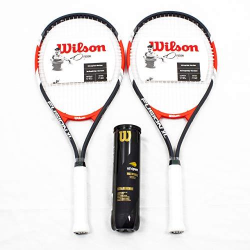 Wilson X2 Fusion XL 27 Pulgadas Raqueta de Tenis + 1 Tubo US