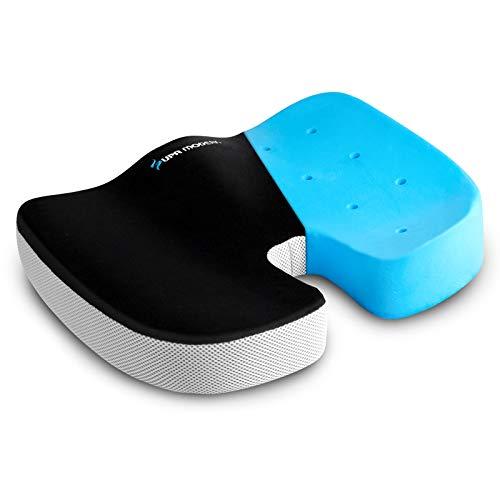 SUPA MODERN Großes Memory Foam-Sitzkissen für Bürostuhl, Autositz, Rollstuhl und Flugzeug/Waschbares U-förmiges rutschfestes Steißbein-Sitzpolster für den unteren Rücken, Steißbein