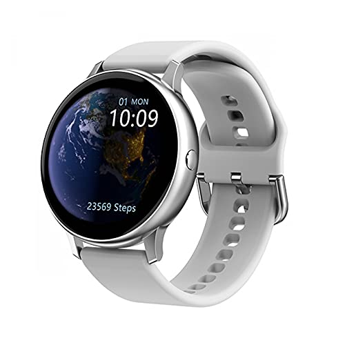 HYK Reloj Inteligente con frecuencia cardíaca, presión Arterial, oxígeno en Sangre, Monitor de sueño, barómetro de altitud, podómetro para Android iOS(E)