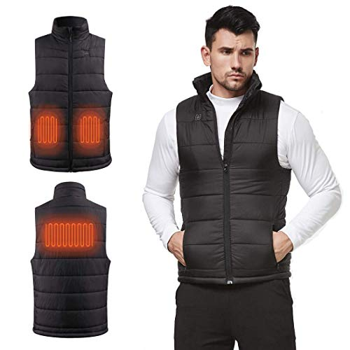 N NIFVAN Men's Lightweight Heated Vest with 8.4V Battery Adjustable Electric Warm Vest for Winter Cold Hiking Camping Fishing