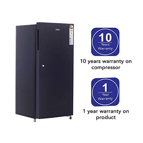 Haier 195 L 3 Star Direct-Cool Single Door Refrigerator (HRD-1953CKS-E, Black Brushline) 4