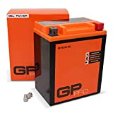 GP-PRO GB14L-A2 12V 14Ah GEL Batterie de démarrage (compatible avec YB14L-A2 / 51411) (Sans entretien/Scellé) Moto Accumulateur