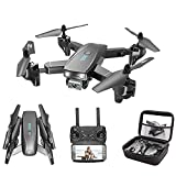 ZHAOJ Foldable GPS FPV Drone with 4K HD Camera Live Video for Beginners, RC Quadcopter with GPS Return Home, Follow Me, Gesture Control, Circle Fly, Auto Hover and WiFi HD Transmission