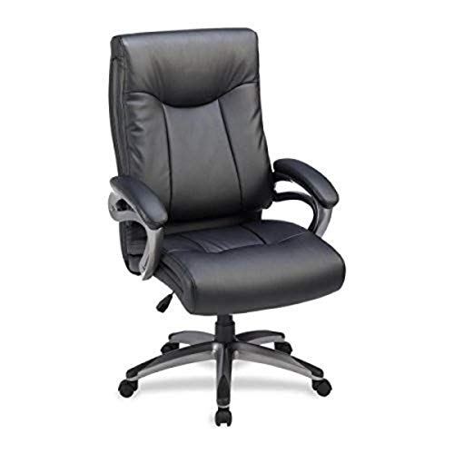 Lorell High-Back Executive Chair, 27 by 30 by 46-1/2-Inch, Black