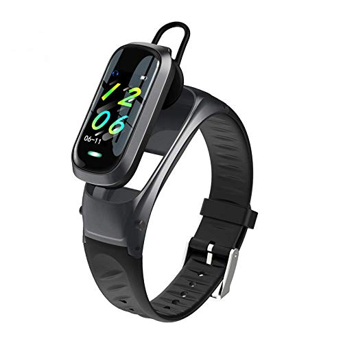 Sportuhr, Fitness-Tracker, Bluetooth-Anruf-Headset 2-in-1, Schrittzähler-Uhr für Fitness-Tracker, als Schrittzähler-Schlafmonitor, geeignet für Frauen und Männer