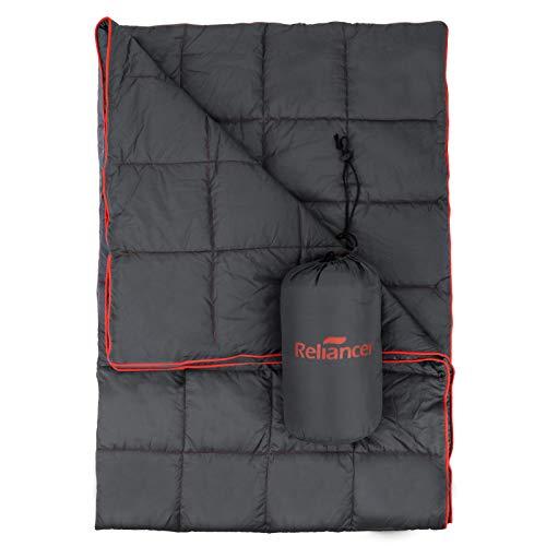 "Puffy Camping Blanket 80"" X 54"" Outdoor Ultralight Backpacking Quilt Super Warm Hammock Top Quilt Wearable Adventure Blankets Waterproof Stadium Blanket (Dark Grey)"