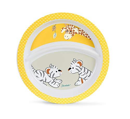 Sterntaler Baby-Teller Kuschelzoo, Giraffe und Tiger, Alter: Für Babys ab 6 Monaten, Gelb