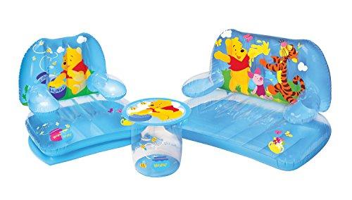Bestway 68554 - Juego de Silla, Sofá y Mesilla Hinchable Winnie the Pooh