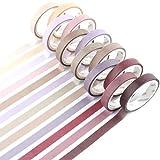 YUBBAEX 12 Rollos Washi Tape Set, de Cinta Adhesiva Washi Cinta Adhesiva Decorativa para Scrapbooking DIY Manualidades (8mm de ancho)