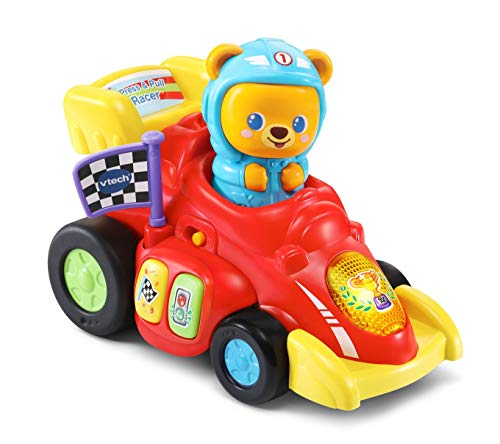VTech Baby Race-Along Bear, Baby Musical Toy with Sounds and Phrases, Baby Interactive Toy for Sensory Play, Push Along Toy, Ideal Christmas Gift for Boys and Girls Aged 1, 2 & 3 Years