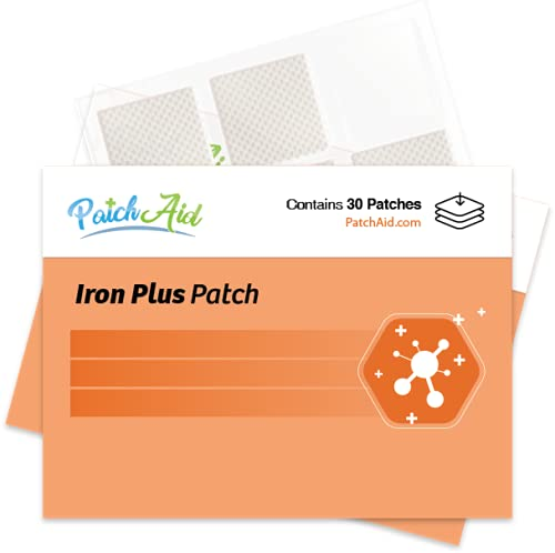 Iron Plus Topical Patch by PatchAid (30-Day Supply) (White)