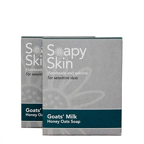 MULTI AWARD WINNING - Goats Milk Oats Soap - Eczema Psoriasis & Acne - 2 x...