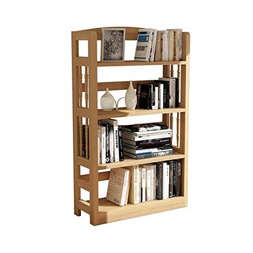 JCNFA Boekenplank voor kinderen, houten vitrine, boekenkast, open plank, 3 lagen, 4 lagen, 5 lagen