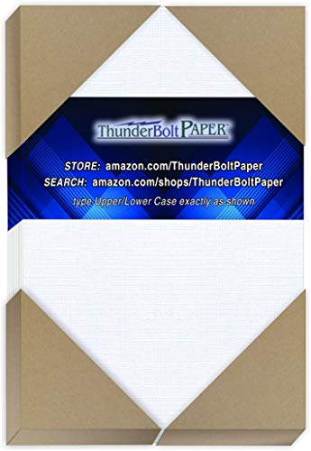 "300 White Linen 80# Cover Paper Sheets - 4"" X 6"" (4X6 Inches) Photo