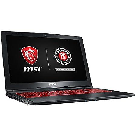 """MSI GL62M 7REX-1896US 15.6"""" Full HD Gaming Laptop Computer Quad Core i7-7700HQ, GeForce GTX 1050Ti 4G Graphics, 8GB DRAM, 128GB SSD + 1TB Hard Drive, Steelseries Red Backlit Keyboard"""