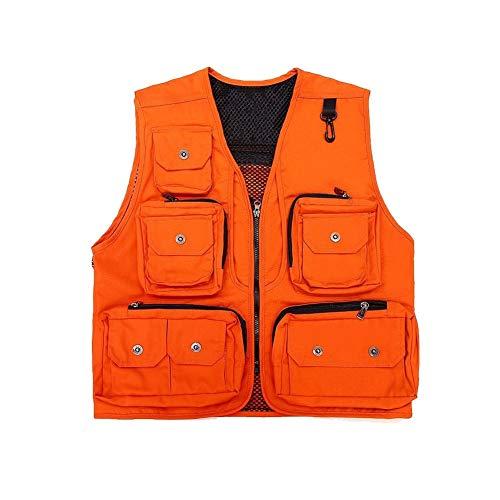 THBEIBEI Vest voor heren, waistcoat multi-pocketed tactisch vest met haak up afneembare rug gilet outdoor jas ademend uit dun voor fotografie vissen