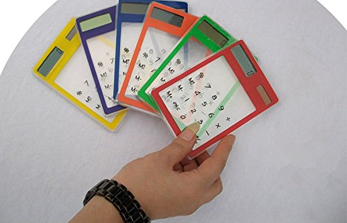 Generic 10300 Transparent Solar Touch Screen Calculator