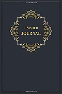 Finisher Journal: A classy black and gold Finisher Journal for day-to-day work