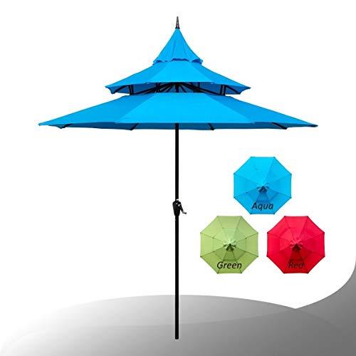 Overstock Maypex 9 Feet Pagoda Market Umbrella Aqua