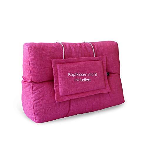 LILENO HOME Palettenkissen Set Pink - Rücken- / Seitenkissen 60x40x10/20 cm - Polster für Europaletten - Palettenkissen Outdoor als Sitzkissen für Palettenmöbel
