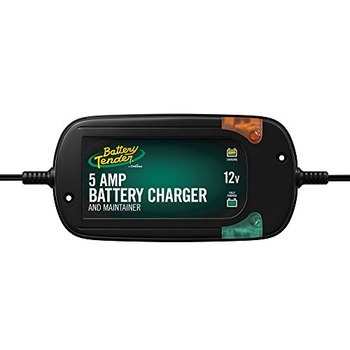 Battery Tender 5 Amp, 12V Battery Charger, Battery Maintainer: Fully-Automatic Battery Charger for Cars, Trucks, SUVs and More - Smart Automotive Battery Chargers - 022-0186G-DL-WH