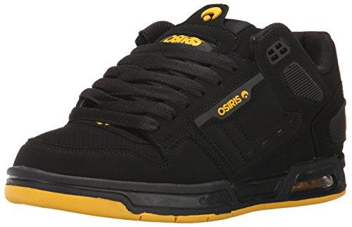 Osiris Men's Peril Skateboarding Shoe, Black/Grey, 5 M US