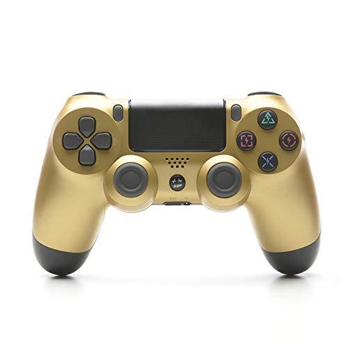 Controller Für PS4, USB Lade Bluetooth Gamepad, Kabelloser Joystick Mit Audio Buchse Dual Vibration Und Touchpad,Bright Gold