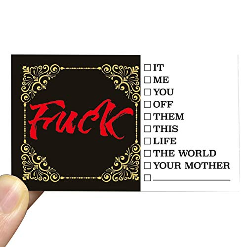 RXBC2011 Offensive Cards Funny Rude Fuck Cards (Pack of 100)