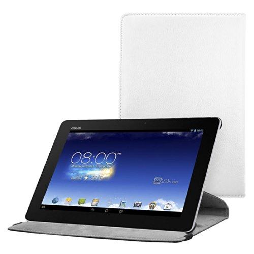 kwmobile Schutzhülle kompatibel mit Asus Memo Pad FHD 10 ME302C - Hülle 360° Tablet Cover Hülle Weiß