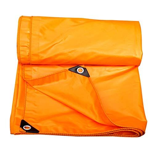 SSRS Lona Impermeable Hoja Carpa de protección Solar Techo de Tela de Doble Cara espese poliéster, Amarillo, 420G / M², 16 tamaños más Disponibles portátil, Duradero (Color : Yellow, Size : 4X6M)
