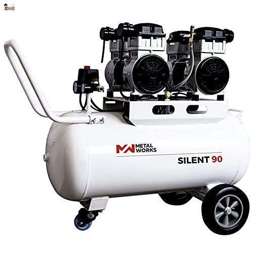 BricoLoco Compresor profesional aire silencioso portátil. 9 bares de presión. 4 CV de potencia. Depósito 90 lts. ¡¡¡ DOS...