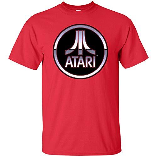 Atari, Retro, Video Game, Gamer, 2600, Console, Cartridge, Game, Logo Men's T-Shirt,Red,XL