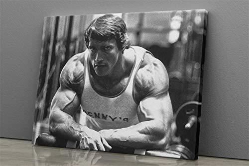 Schwarzenegger Poster Bodybuilder Fitness Motivation Schwarz-Weiß-Leinwand Wandkunst Home Decor Drucke Malerei Kunstdrucke Bild Home Decoration Wohnzimmer Dekor