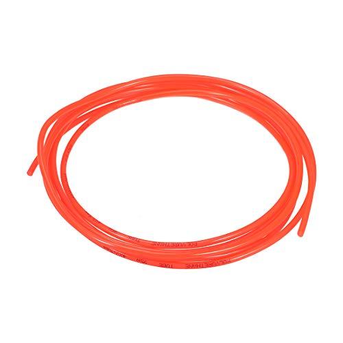 sourcing map - Tubo de aire neumático, 4 mm OD x 2,5 mm ID de 3 metros (118 pulgadas) de poliuretano PU manguera de compresor de aire tubo naranja