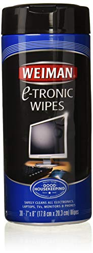 Weiman AntiStatic ETronic Electronic Cleaning Wipes For LCD Screens Computers TVs Tablets Ereaders Smart Phones Netbooks and Touchscreens 30 Wipes