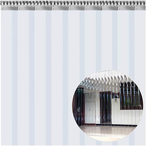 VEVOR Cortina Puerta PVC Transparente Impermeable, 1,5x2,5 m, Material Impermeable Transparente PVC 9 Tiras Total, Cortina Puerta PVC Ancho Total 1,5m para Supermercados, Tiendas, Casas, Fábricas etc