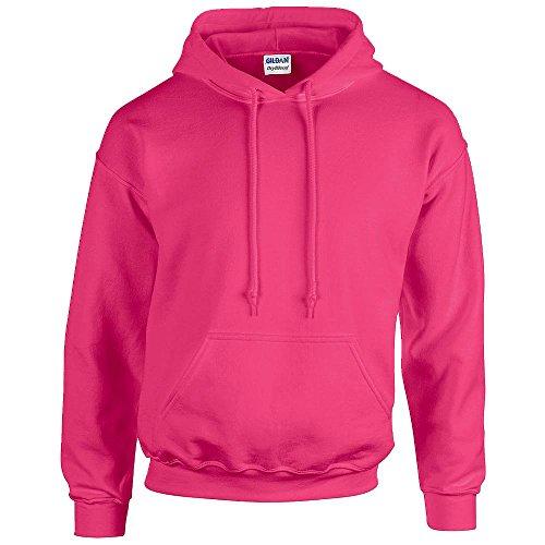 Gildan - Unisex Kapuzenpullover 'Heavy Blend' , Safety Pink, Gr. M