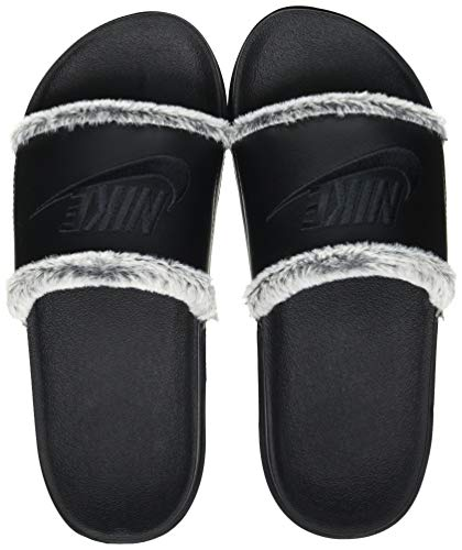 Nike Damen Offcourt Leather Slide Sandal, Black/Black-Black, 39 EU