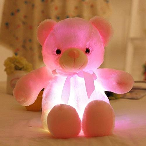 Best Quality - Holiday Lighting . - creative light up led lamp inductive teddy bear stuffed animals plush toy night light colorful glowing christmas gift for kids - by Stephanie - 1 PCs