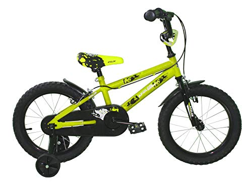 "Ümit Bicicleta 16"" APOLON, Juventud Unisex, Verde Pistacho, Mediano"