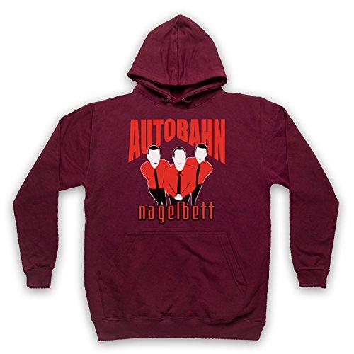 My Icon Art & Clothing Lebowski Autobahn Nagelbett Comedy Film Erwachsenen Kapuzensweater, Burgund, 2XL